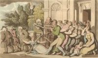 'The Father of the Family' English Dance of Death, Thomas Rowlandson, 1814 Dance Of Death, Medieval, Flora, Stock Photos, Opium Den, Free, Undertaker, Painting, Amy