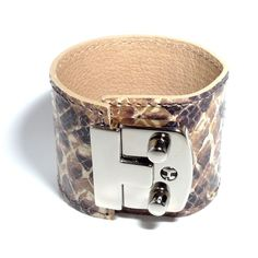 Jewellery & Gifts from Dogeared, Daisy London and more! Daisy London, Python Print, Leather Cuffs, Simple Outfits, Jewelry Gifts, Cuff Bracelets, Belt, Prints, Accessories