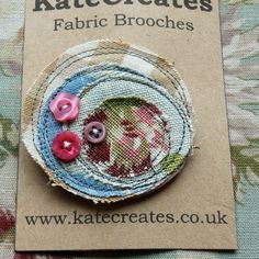 Funky Fabric Brooches by KateCreates (@Kate Mazur Brazier)