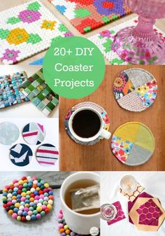 Beginner Crafts: DIY Coasters - Lots of Mod Podge Ideas! Diy And Crafts Sewing, Crafts For Girls, Crafts To Sell, Arts And Crafts, Bead Crafts, Craft Tutorials, Craft Projects, Easy Projects, Sewing Projects
