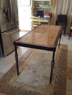 Table built by Tomas Fernandez - custom $3,800 http://www.pinterest.com/heartandanvil/