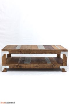 DIY Industrial Coffee Table Plans- Free Project Plans | rogueengineer.com/ #Industrial_Coffee_Table #DIYCoffeeTable