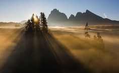 Alpe di Siusi Morning Sun     by Hans Kruse: something about this shot brought joyful tears of faith