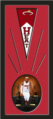 Miami Heat Wool Felt Mini Pennant & LeBron James Poses Photo - Framed With Team Color Double Matting In A Quality Black Frame-Awesome & Beautiful-Must For A Championship Team Fan! Most NFL, MLB, NBA, Teams Available-Plz Mention In Gift Message If Need A different Team Art and More, Davenport, IA http://www.amazon.com/dp/B00I2N5PWA/ref=cm_sw_r_pi_dp_metEub16PET4J