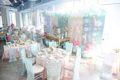 Partyscape from a Mermaid Oasis Themed Birthday Party via Kara's Party Ideas | KarasPartyIdeas.com (3)