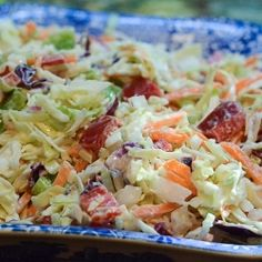 California Cole Slaw - Kicked up cole slaw with a creamy, dreamy, lightened up dressing.