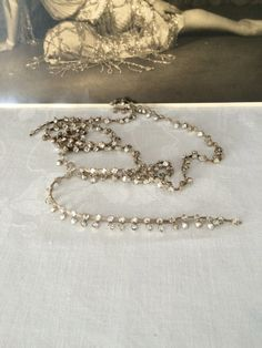 Art Deco Flapper Rhinestone Paste and Lame' by TheButlersCottage