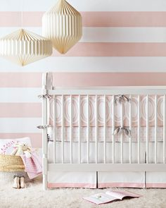 2016 Nursery Trend: Pastels! - perfect example of this is the Colette Collection Baby Bedding from Serena & Lily.