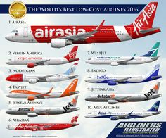 https://flic.kr/p/JrDj7A | SKYTRAX 2016 WORLD'S BEST LOW-COST AIRLINES | Airliners Illustrated® by Nick Knapp©. www.AirlinersIllustrated.com