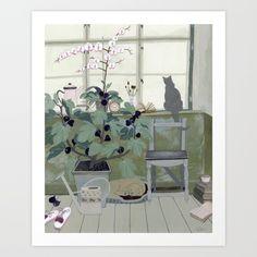 Indoor Garden With Fig Tree Art Print