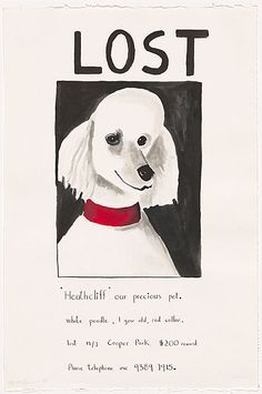 Noel McKenna Lost, Heathcliff 2001watercolour Collection of the National Gallery of Australia Gift of Peter Fay 2005 © Noel McKenna
