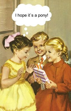 I hope it's a pony! I love these birthday cards with illustrations from the classic Ladybird books and their humour Happy Birthday Funny, Happy Birthday Quotes, Happy Birthday Images, Happy Birthday Greetings, Birthday Messages, Humor Birthday, Sister Birthday, Birthday Parties, Birthday Humorous