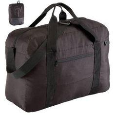 Reisetasche Duffle faltbar 35 l schwarz