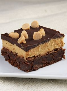 This recipe for peanut butter cookie dough brownies is addicting and amazing and delicious. For cookie dough lovers only. Cookie Dough Brownies, Chocolate Chip Cookie Dough, Chocolate Brownies, Chocolate Chips, Just Desserts, Delicious Desserts, Dessert Recipes, Layered Desserts, Sweet Desserts