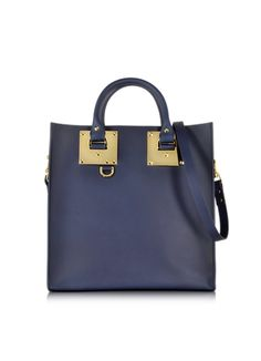 Sophie Hulme Large Leather Square Tote
