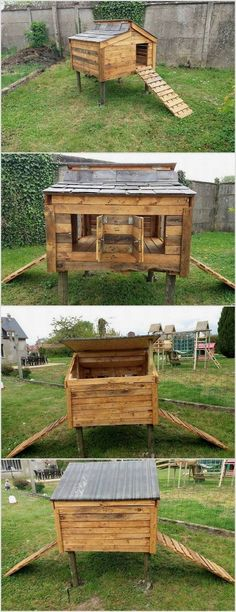 In order to create a chicken coop, the best material would be using the wood pallet. Pallets are durable and hard to break. You can design the whole chicken coop according to the quantity of the chickens you have. You can add the coop with the staircase so that it would be easy for the chickens to come out from the coop. #DIYChickenCoops