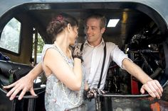 Fun at the Steam Railway, a 20's themed shoot.