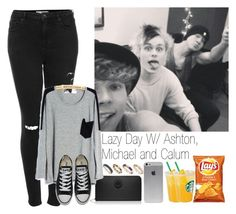"""Lazy day with Ashton,Michael and Calum"" by mariangelik-24 ❤ liked on Polyvore featuring Topshop, Tory Burch, Converse and ASOS"