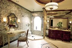 A bathroom fit for royalty...