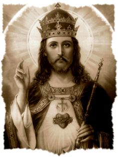 Sunday of Christ the King – Act of Consecration of the Human Race to the Sacred Heart of Jesus Image Du Christ, Image Jesus, Christ The King, King Jesus, Religious Images, Religious Art, Jesus Christus, Jesus Face, Photo Images