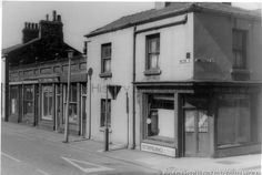 MSE/3/17 Black and white photograph showing Westfield Street at its junction with Peter Street, St.Helens 1973 MSE - The Frank Sheen Collection 3 - Photographs showing St.Helens Town Centre