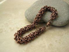 Women's Copper Bracelet Women's Chain Bracelet by Arret on Etsy