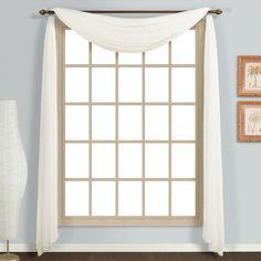 United Curtain Monte Carlo 4-Yard Window Scarf