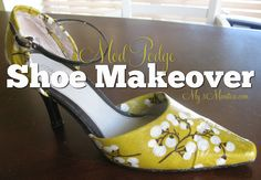 Give Your Shoes A Makeover with Mod Podge #modpodge #shoes
