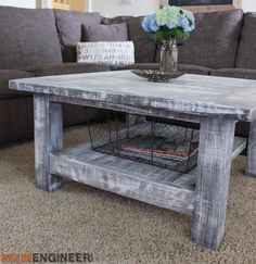 Square Plank Coffee Table Plans - Rogue Engineer