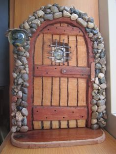 Home Decorators Collection Flooring Knotty Pine Doors, Interior Design Colleges, Biscuit, Glass Bottle Crafts, Fairy Doors, Miniature Fairy Gardens, Paper Clay, Fairy Houses, Clay Crafts
