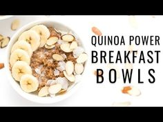 Kick start your day with these delicious quinoa power breakfast bowls! They're a cinch to make, are packed with protein and will keep you energized all day!
