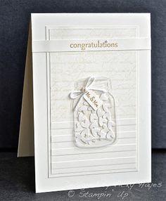 Stampin' Up ideas and supplies from Vicky at Crafting Clare's Paper Moments: A Perfectly Preserved marriage!
