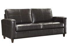 Office Star Espresso Eco Leather Sofa with Espresso Finish Legs SL2813-EC1