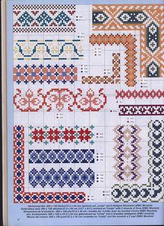 Cross-stitch borders