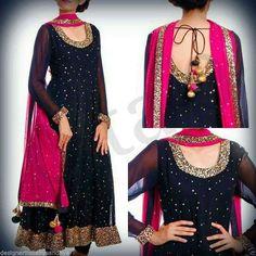 Punjabi anarkali salwar Kameez Bollywood Designer Indian Embroidery Bridal suit