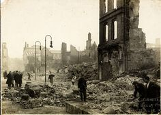 This is the devastation in the aftermath of what's known as the Burning of Cork during the Irish War of Independence. We don't have an exact. Northern Irish, Northern Ireland, Ireland Vacation, Ireland Travel, Ireland 1916, Galway Ireland, County Cork Ireland, Images Of Ireland, Cork City