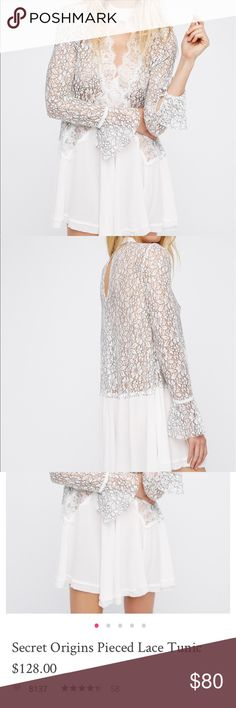 Free people pieced lace tunic pieced lace tunic - current FP item - from smoke free home Free People Tops Tunics