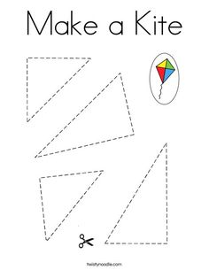 Make a Kite Coloring Page - Twisty Noodle Preschool Letters, Kindergarten Activities, Preschool Activities, Kids Educational Crafts, Science Crafts, Educational Websites, Bible Activities For Kids, Montessori Activities, Preschool Cutting Practice