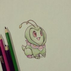 Chikorita reppin a Maganium hoodie by itsbirdy