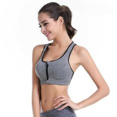 f6899cd40a Medium Impact - Front Zipper Padded Sports Bra – Asanas Outfitters Women s  Sports Bras