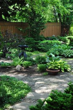 Green sanctuary. Shade gardens = no | http://thegardendecorationsaz.blogspot.com
