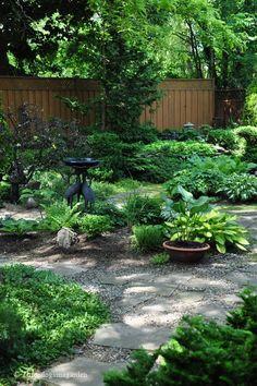 Green sanctuary. Shade gardens = no | http://thegardendecorationsaz.blogspot.com