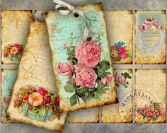 lovely floral tags