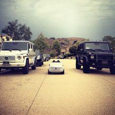 Scott Disick & Kourtney Kardashian's Mercedes' feature an appropriate car for their two year old son Mason.
