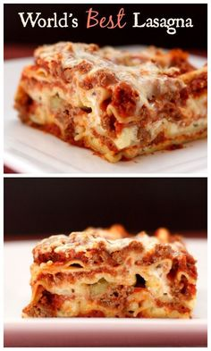 World's Best Lasagna - the quintessential recipe for this Italian comfort food classic  http://cupcakesandkalechips.com