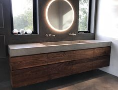 New Modern Guest Bathroom Ideas Trough Sink 46 Ideas Concrete Sink Bathroom, Trough Sink Bathroom, Bathroom Faucets, Small Bathroom, Master Bathrooms, Luxury Bathrooms, Sinks, Modern Bathroom Sink, White Bathrooms