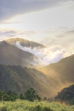 Beautiful sunshine in 合歡山