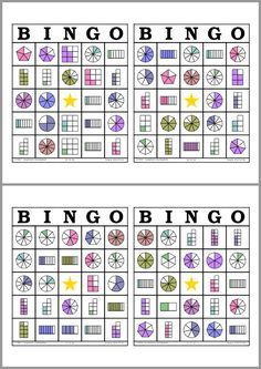 Bingo de Fracciones                                                       …                                                                                                                                                                                 Más Math Resources, Math Activities, Fraction Activities, Math Bingo, Fraction Games, Primary Maths, Third Grade Math, School Worksheets, Math Fractions