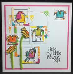 Hello My Little Flower Pop! by Amanda Southern | That's Blogging Crafty!