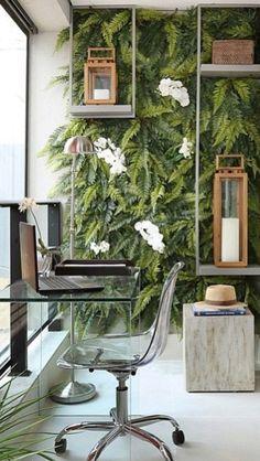 Perfeita combinação de plantas e velas